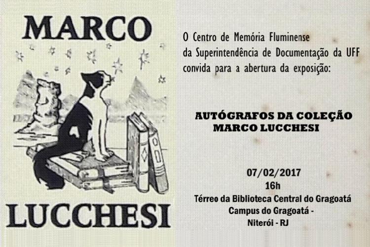 Exposição Autógrafos da Coleção Marco Lucchesi