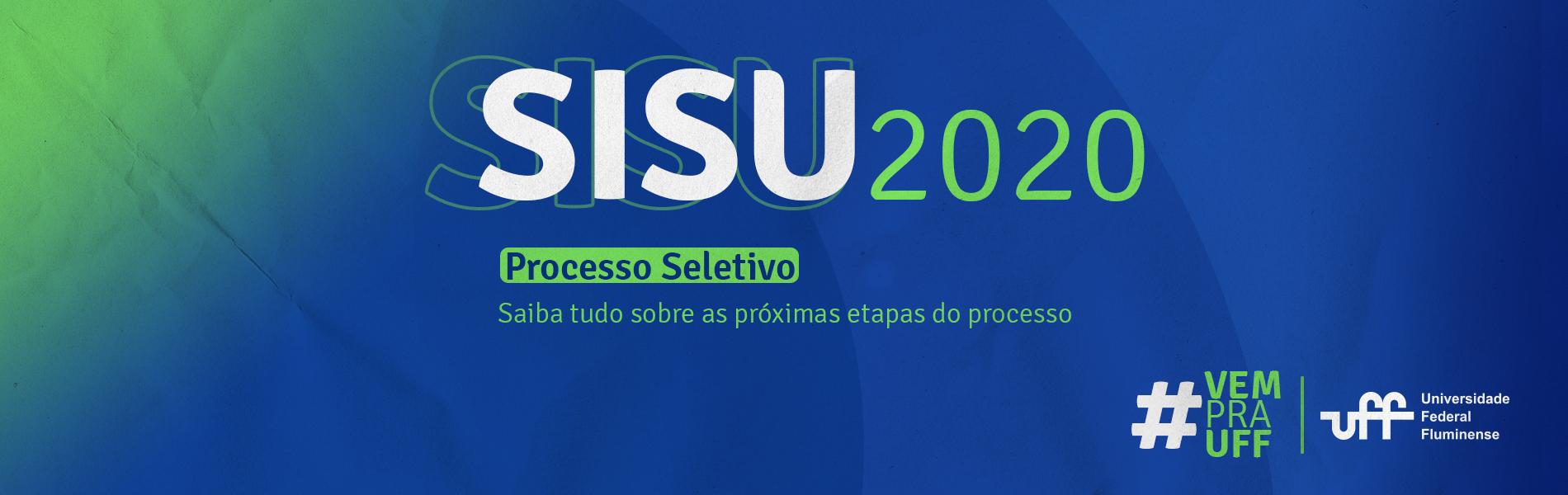 fundo azul e verde com informações sobre o sisu 2020