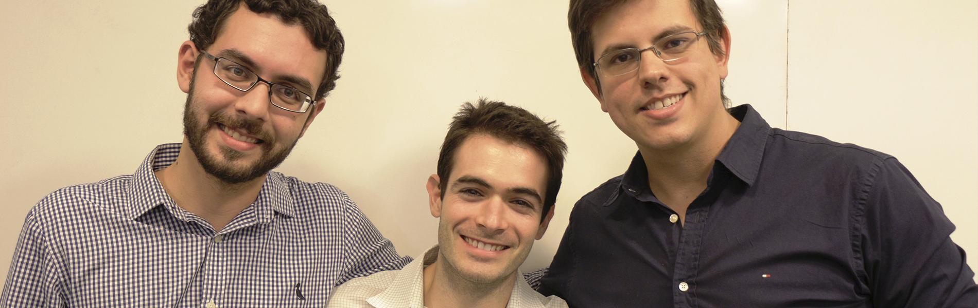 Foto dos três alunos da UFF