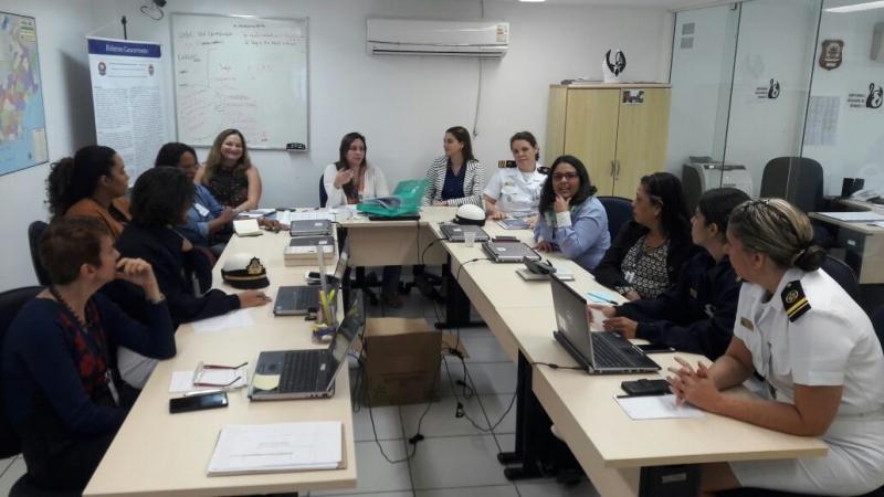 Reunião e treinamento, da SDC/UFF e EBSCO, na Escola de Gerra Naval