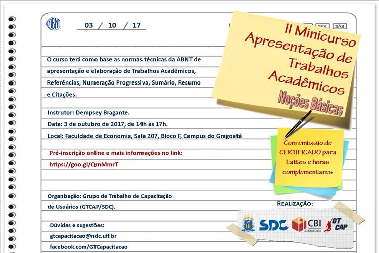 Segundo Minicurso Apresentação de trabalhos acadêmicos