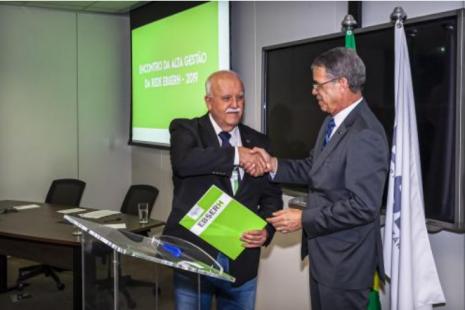 O Superintendente do Huap, Tarcísio Rivello, e o Presidente da Ebserh, Oswaldo Ferreira