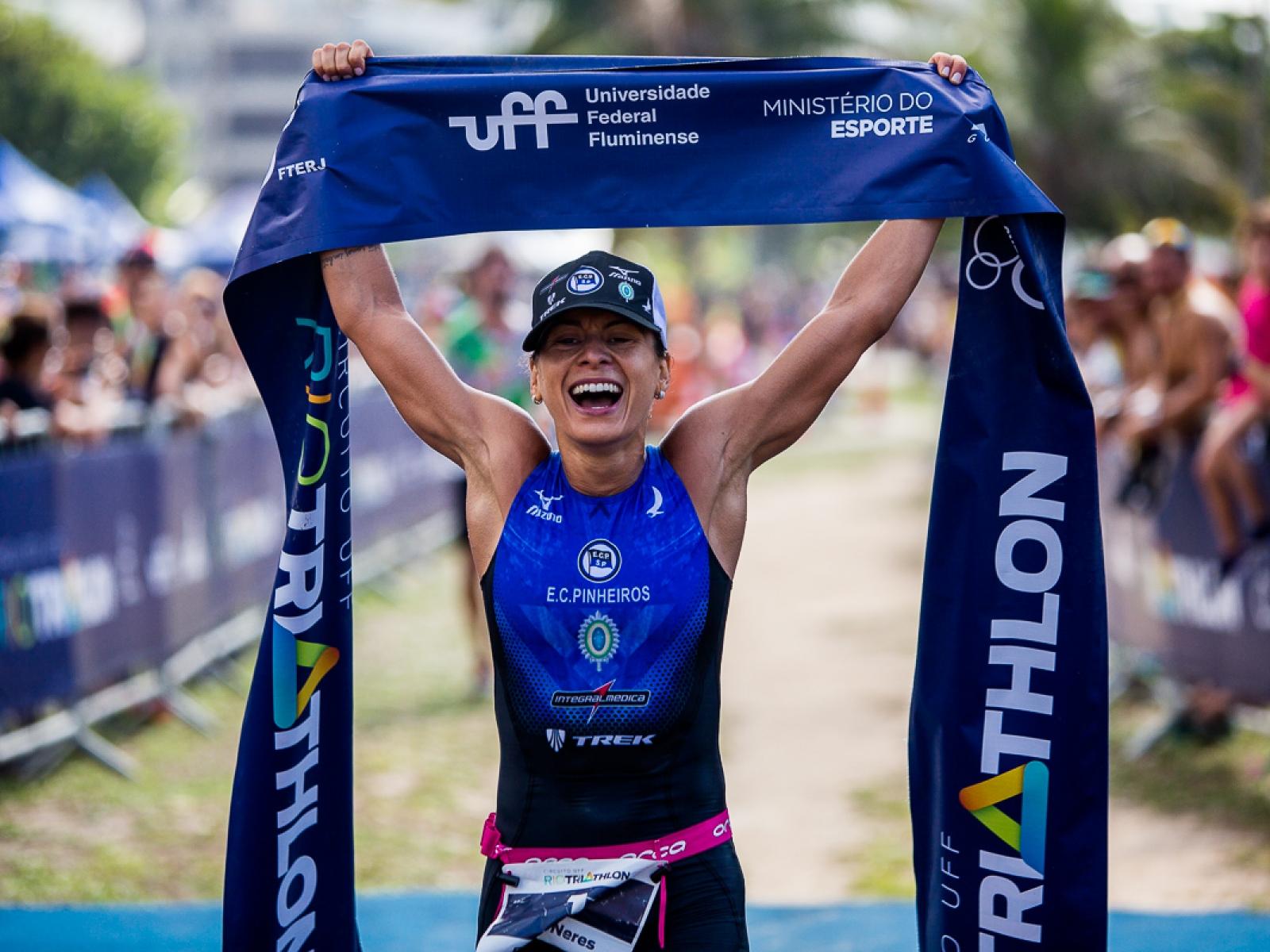 vencedora do Triathlon