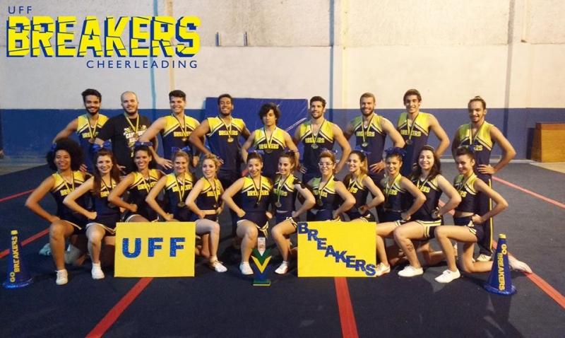 UFF Breakers, atual equipe de cheerleading campeã nacional Foto: Divulgação