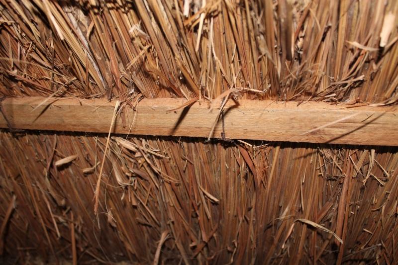 Detalhe da oca construída em palha e madeira - Foto: Patrick Rosa