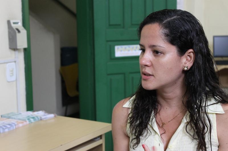 Para a coordenadora do Sensibiliza, Paula Godois, é importante sensibilizar professores e alunos Foto: Gabriella Balestrero