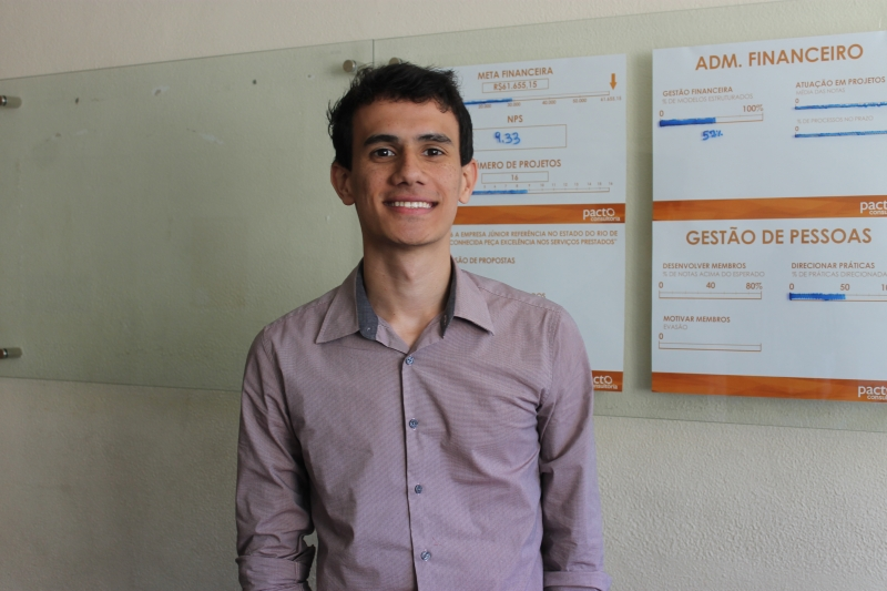 Matheus Dassie, Presidente da Empresa Júnior Pacto Consultoria Foto: Gabriella Balestrero
