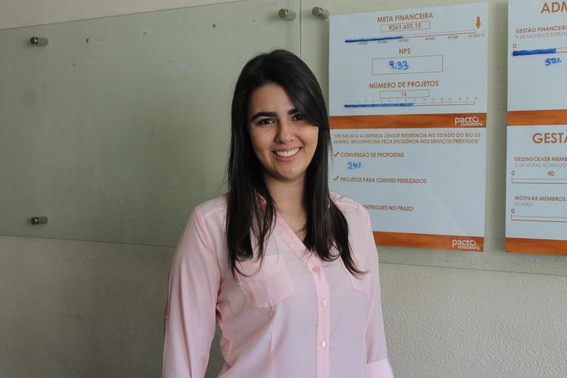 Érica Costa, Vice-Presidente da Empresa Júnior Pacto Consultoria Foto: Gabriella Balestrero