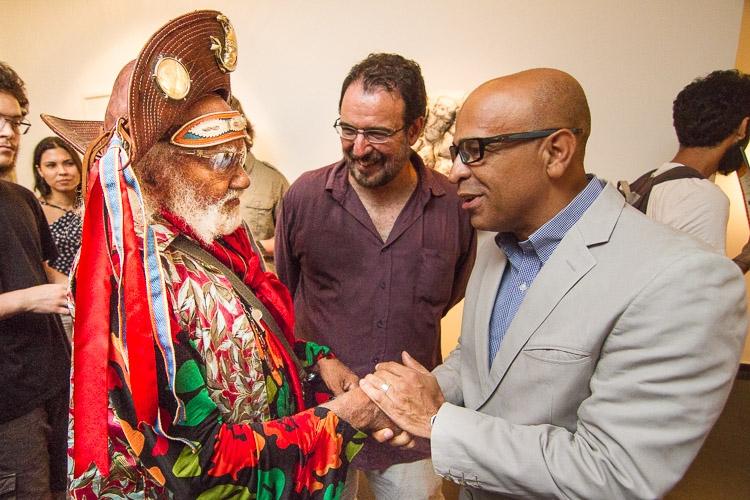 Mestre Bigode com reitor da UFF Foto: Vitor Vogel