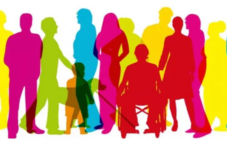 imagem: silhuetas coloridas de pessoas variadas