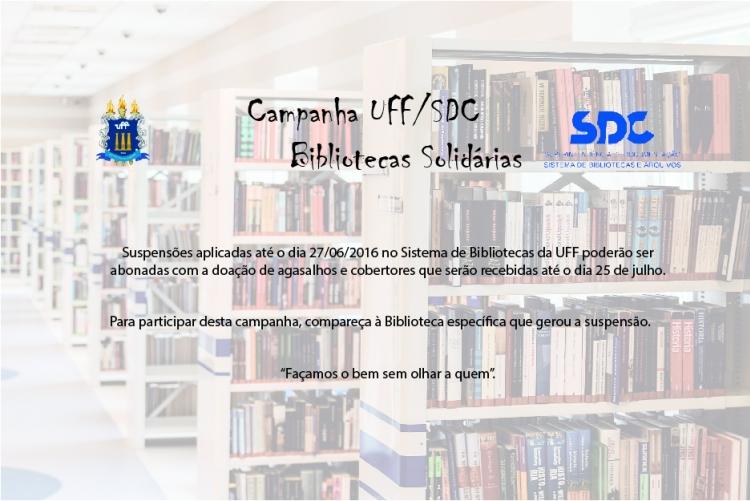 Campanha solidária no Sistema de Bibliotecas da UFF
