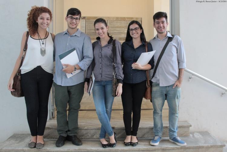 Integrantes das empresas juniores Agrha, Meta Consultoria, P&Q Engenharia, Pacto Consultoria e Opção Consultoria