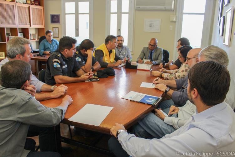 Reunião com representantes da Guarda Municipal e Polícia Militar