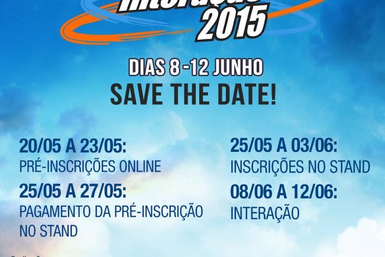 O Interação 2015 ocorre entre 8 e 12 de junho