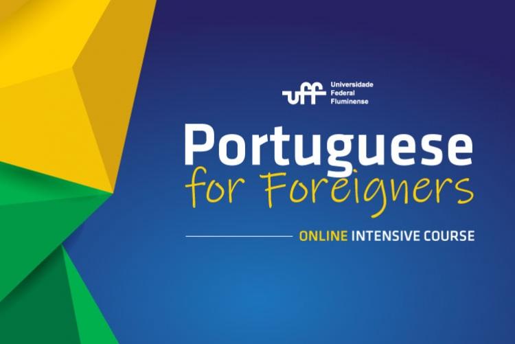 Imagem de divulgação do curso de Português para Estrangeiros