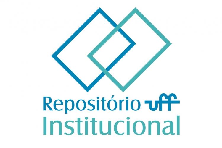 Logo do repositório institucional. Dois retangulos azuis sobrepostos e as palavras Repositório institucional uff abaixo