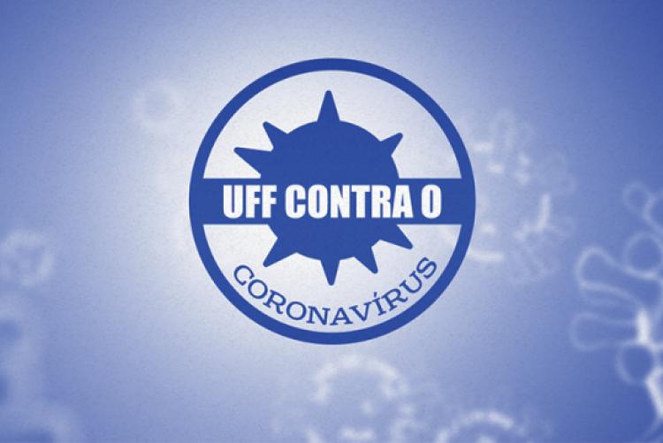 Logo da campanha UFF contra o coronavírus