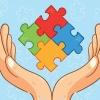 imagem: duas mãos amparando quatro peças de quebra-cabeças