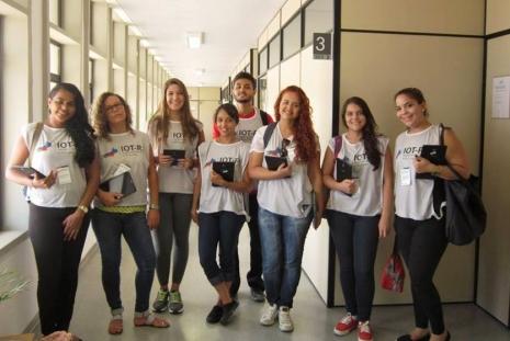 Pesquisadores do IOT-RJ na Faculdade de Turismo e Hotelaria da UFF Foto: Divulgação