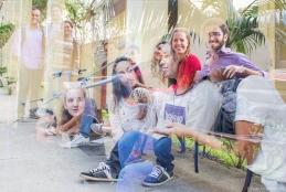 Estudantes da UFF no campus Praia Vermelha