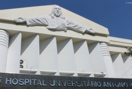 Fachada do hospital Antonio Pedro