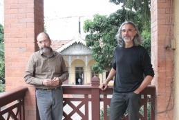 Professores de Arquitetura e Urbanismo da UFF responsáveis pelos projetos: Gerônimo Leitão e Ronaldo Brilhante. Foto: Luísa Verçosa