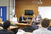 Mesa redonda com Margaret Everrett, da PSU, José Celso Freire, da FAUBAI, Roberto Kant e Livia Reis da UFF.