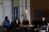 Mesa redonda com Ana Mauad, Carla Carvalho, Guilherme Fernandez, Helena Castro e Andrea Latgé, da UFF.