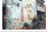 O mesmo muro em Acari antes exibia imagem de santa católica - Foto: Marcos Alvito