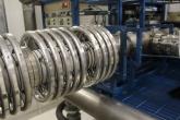 Tubo de aceleração das partículas e dissociador molecular