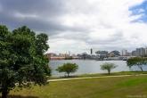 Local em que hotel flutuante ficará ancorado, em frente ao Instituto de Educação Física, no Campus do Gragoatá Foto: Paula Fernandes
