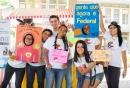 Estudantes no acolhimento estudantil do primeiro semestre de 2015