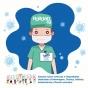Ilustração de um enfermeiro de máscara