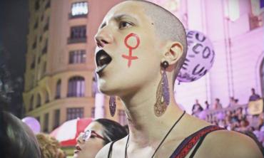 """Foto: """"O grito da Guerreira"""", de autoria de Andreza Azevedo Cunha, discente de graduação em Sociologia."""