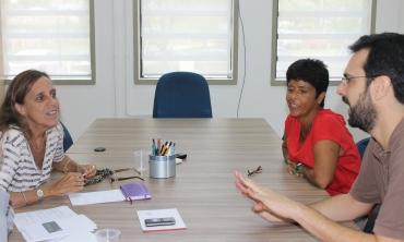 Coordenadoras e professor por trás do projeto Foto: Mariana Yagi